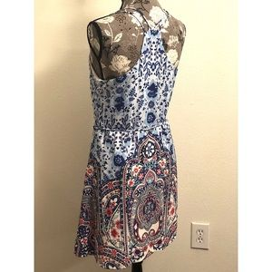 Anthropologie Dresses - ANTHRO pink owl paisley sleeveless dress 👗